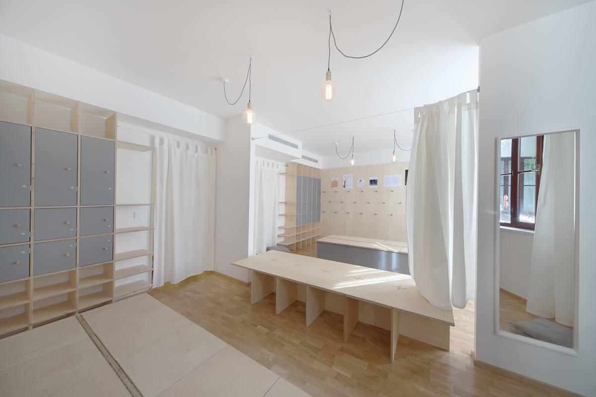 Šatna - taneční studio
