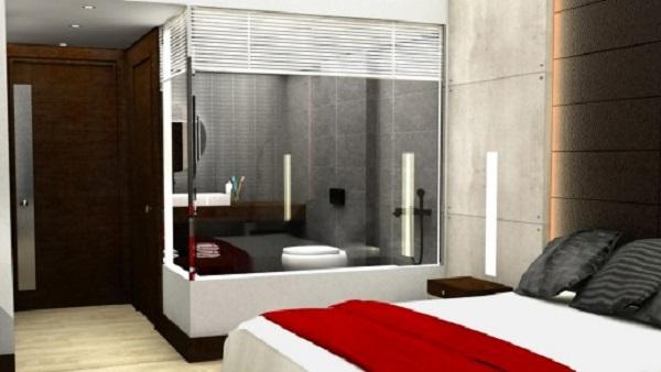 Propojení ložnice s vanou